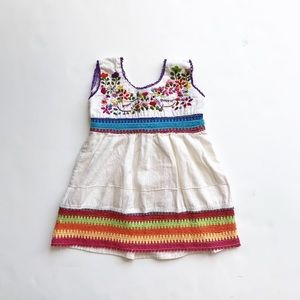 Dove embroidered dress size 1/fits 12-18 months